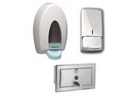 Zabudovatelné hygienické dávkovače na tekuté mýdlo